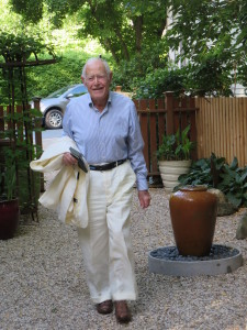 Jim Salter arriving for his 90th birthday party